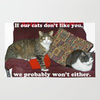 meme Area & Throw Rugs featuring Cat Meme by Frankie Cat