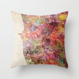 Colombo map Throw Pillow