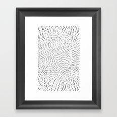 storm | white Framed Art Print