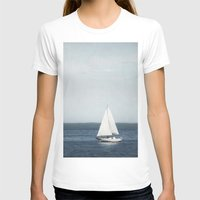 sail T-shirts featuring Set Sail by Pure Nature Photos