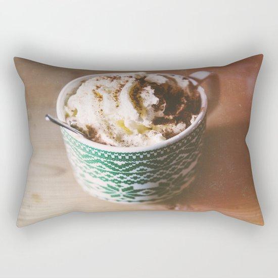 Whipped Cream Hot Chocolate Rectangular Pillow
