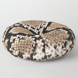 Pastel brown black white snakeskin animal pattern Floor Pillow