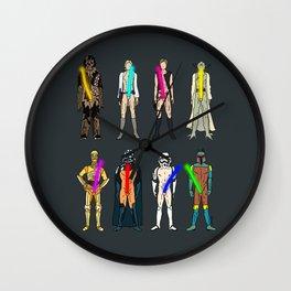 Naughty Lightsabers - Dark Wall Clock