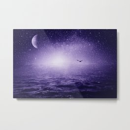 the Sea and the Universe ultra violet version Metal Print