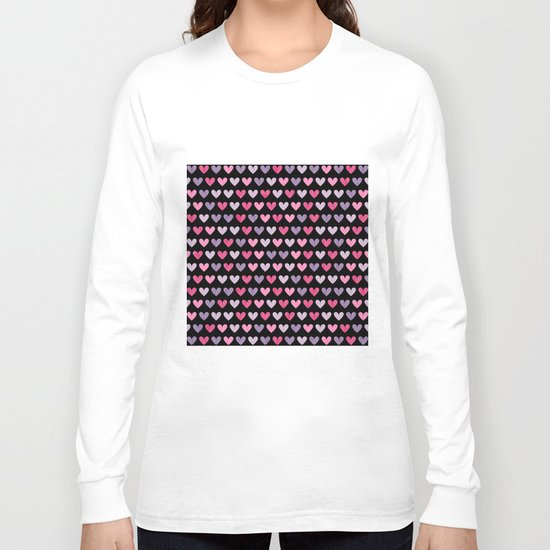 Colorful hearts VI Long Sleeve T-shirt