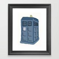 Abstract TARDIS Framed Art Print