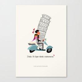 Italia, un lugar donde enamorarse Canvas Print