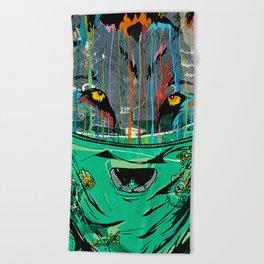 Wolf Mother - Screen Print Edition  Beach Towel