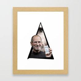 Youtriangle ∆ Steve Jobs Framed Art Print