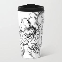 Flowers Line Drawing Travel Mug