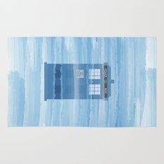 TARDIS Under the Sea - Doctor Who Digital Watercolor Rug