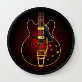Electric Guitar ES 335 Flamed Maple Wall Clock
