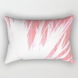 NL 15 Pink & White Tribal Grass Rectangular Pillow