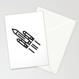 Space Rocket Icon Stationery Cards