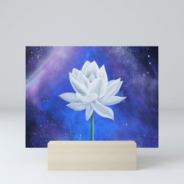 White Lotus Mini Art Print
