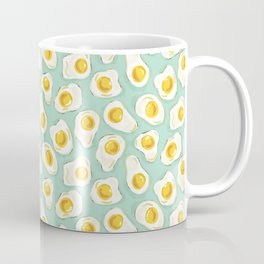 fried egg eggs sunny side up cute food pattern Coffee Mug