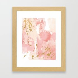 Abstract pink painting Framed Art Print