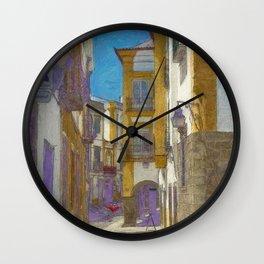 An Evora street Wall Clock
