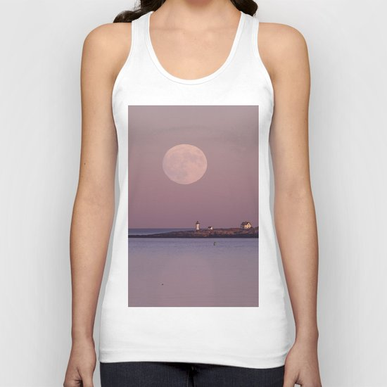 Lighthouse Moonrise Unisex Tank Top