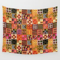 quilt Wall Tapestries featuring Tribal Quilt by Bedros Awak