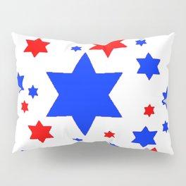 4TH RED & WHITE & BLUE STARS  DESIGN Pillow Sham