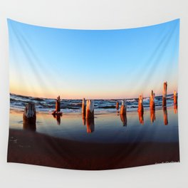 Reflected Remains on the Beach Wall Tapestry