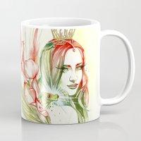 princess Mugs featuring Princess by Veronika Neto