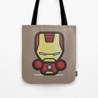 ironman Tote Bags featuring Ironman by MaNia Creations