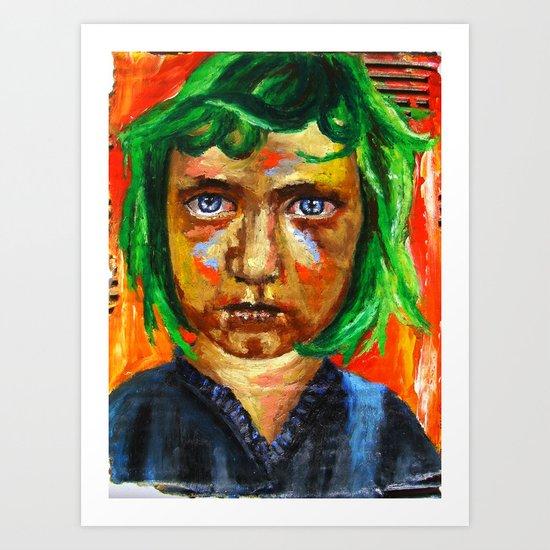 Le Coeur aux Oriflammes  Art Print
