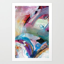 Abstract Oil Painting  Art Print