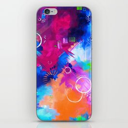 Scrap Paint 1 - Colorful abstract art iPhone Skin