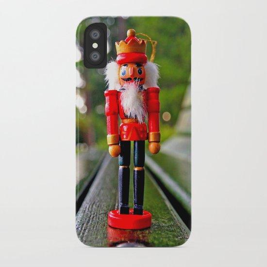 Park-bench Yuletide iPhone Case