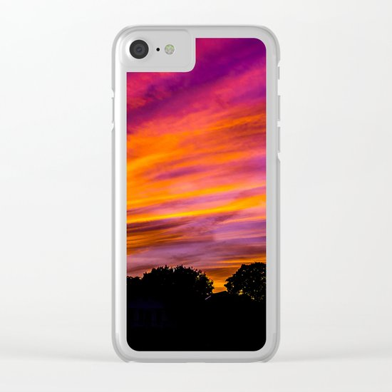 Autumn On Fire Clear iPhone Case