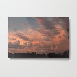Pretty clouds in Oregon Metal Print