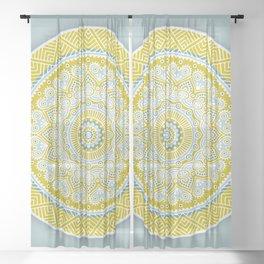 Mustard Mandala Sheer Curtain