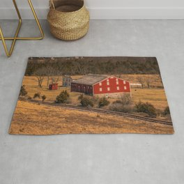 McLean Farm Gettysburg National Military Park Civil War Battlefield  Rug