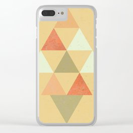 Being Mindful, Geometric Triangles Clear iPhone Case
