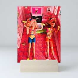 Aerobics with Ana and Mia, 1989 Mini Art Print