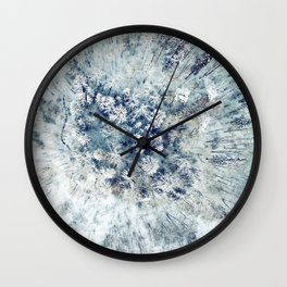 AERIAL. Frozen forest in winter Wall Clock