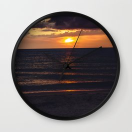 Sunset On Clearwater Beach, FL Wall Clock