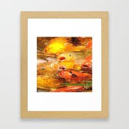 TEXTURES: Koi Swarm Framed Art Print
