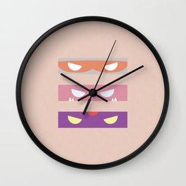 Teenage Minimal Ninja Baddies Wall Clock
