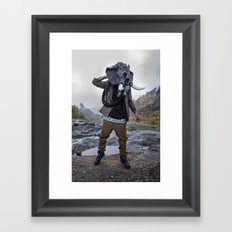 Sneakerhead Elephant Gas Mask by Freehand Profit Framed Art Print