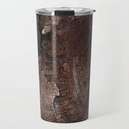 burned wood texture Travel Mug