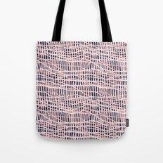 Net Blush on Navy R Tote Bag