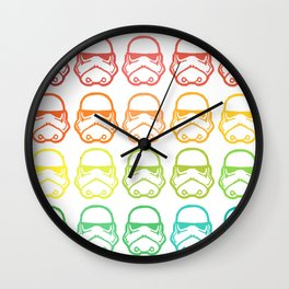 Rainbow wars Wall Clock