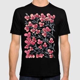 Cherry Blossoms – Pink & Black Palette T-shirt