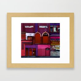 the open heart Framed Art Print