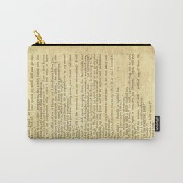 Jane Eyre, Mr. Rochester First Marriage Proposal by Charlotte Bronte Carry-All Pouch