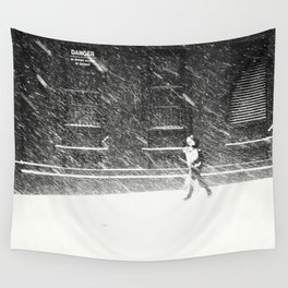 Snow Surfer Wall Tapestry